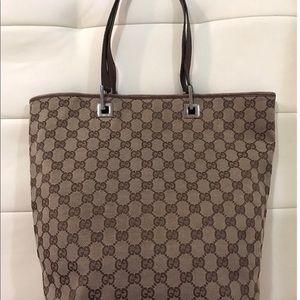 Brown canvas  Gucci bag